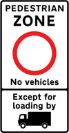 Entry to pedestrian zone restricted except for permit holders