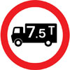 Goods vehicles exceeding a gross weight of 7.5T prohibited