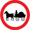 Horse drawn vehicles prohibited