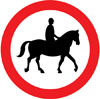 Ridden or accompanied horses prohibited