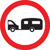 Towed caravans prohibited