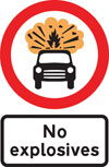 Vehicles carrying explosives prohibited
