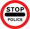 Vehicular traffic must not go beyond the sign where displayed temporarily by a constable in uniform or by a traffic warden