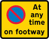 Continuous prohibition on waiting except loading and unloading on the footway