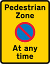 Prohibition on waiting (and loading and unloading) in a pedestrian zone at any time