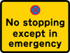 No stopping in lay-by except in emergency