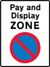 Entrance to a pay and display parking zone