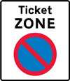 Entrance to a ticket parking zone