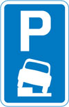 Vehicles may be parked partially on the verge or footway