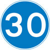 Minimum speed limit of 30 miles per hour
