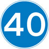 Minimum speed limit of 40 miles per hour