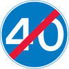 End of 40 miles per hour minimum speed limit