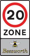 Entrance to a 20 miles per hour speed limit zone