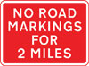 Temporary absence of road markings for 2 miles