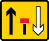 Centre lane of a three lane single carriageway road closed