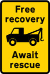 Information on breakdown recovery services during road works