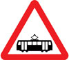 Tramcars crossing ahead