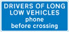 Drivers of long low vehicles must telephone to obtain permission before using a railway or tramway level crossing