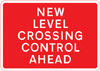 New method of controlling traffic at a railway or tramway level crossing ahead