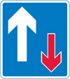 Traffic has priority over vehicles from the opposite direction