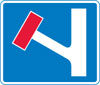 No through road for vehicular traffic in direction indicated from junction ahead