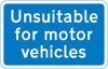 Road unsuitable for motor vehicles