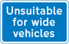 Road unsuitable for wide vehicles