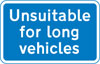 Road unsuitable for long vehicles