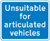 Road unsuitable for articulated vehicles