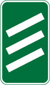 300 yards to a roundabout or the next point at which traffic may leave a non-primary route