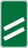 200 yards to a roundabout or the next point at which traffic may leave a non-primary route