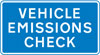 Vehicle emissions check point ahead