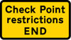 End of vehicle check point area