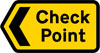 Direction to a vehicle check point