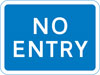 Entry to a car park, private access road or property from a public road not allowed