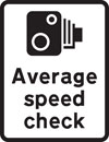 Length of road where two cameras are used to measure the average speed of a vehicle between two points