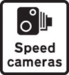 Area in which cameras are used to enforce the speed limit regulations