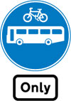 Route for use by buses and cycles only