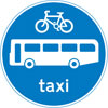 Route for use by buses, pedal cycles and taxis only