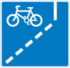 With-flow cycle lane ahead