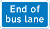 End of bus lane