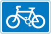 Route recommended for pedal cycles on the main carriageway of a road