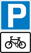 Parking place for pedal cycles