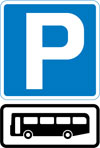 Parking place for buses
