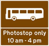 Stopping place for buses used for carrying tourists to allow passengers to take photographs