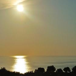 Sun coming down