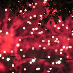 Lights and fireworks bokeh