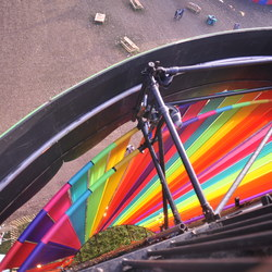 Looking down