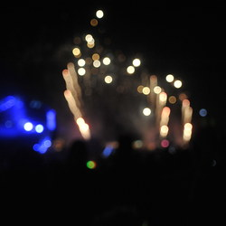 Blurry fireworks