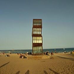 Barcelona beach art